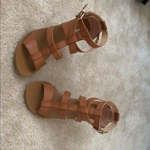 Express - Brown/Tan Gladiator Wedges